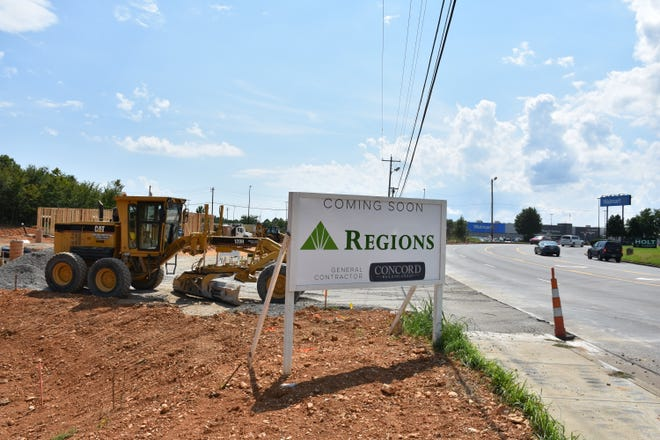 The new Regions Bank under construction next to Walmart in Dickson.