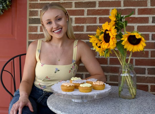Alyssa Lower with a selection of her donuts from Alyssa's Healthy Donuts.