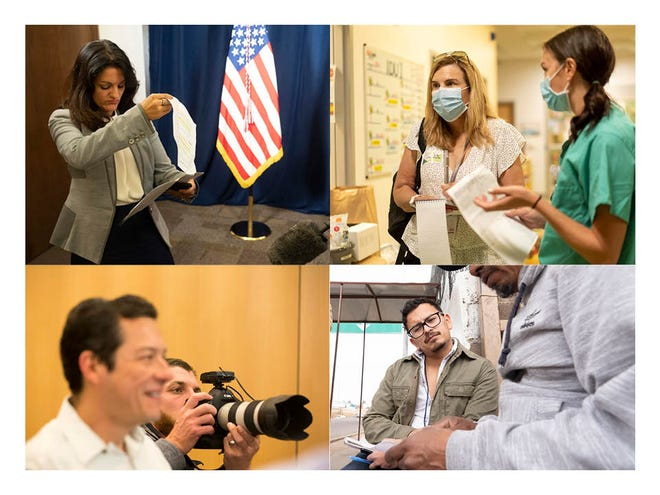 Reporters and photographers on the job at The Arizona Republic.