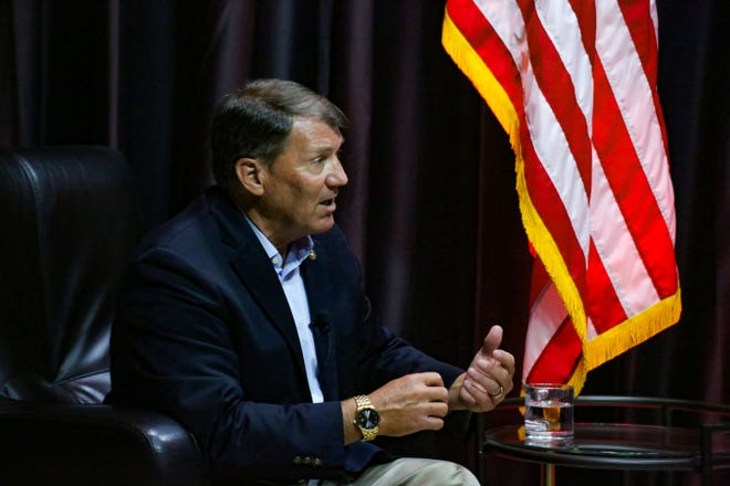 """Senator Mike Rounds participates in an installment of """"Inside Washington"""" with the Sioux Falls Chamber of Commerce on Thursday, August 20."""