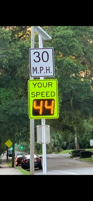 Speed monitoring signs in Lafayette Park neighborhood.