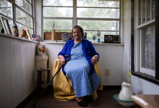 Rebecca Gray, 75, does not have a car and has to come all the way to Tallahassee for her doctor's appointments, which is even harder nowadays because of the pandemic.