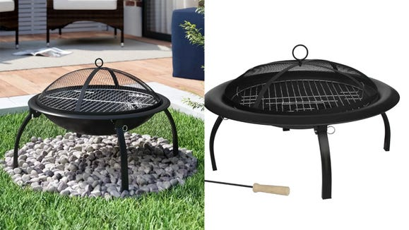 Fall into lovely nights with family with this fire pit.