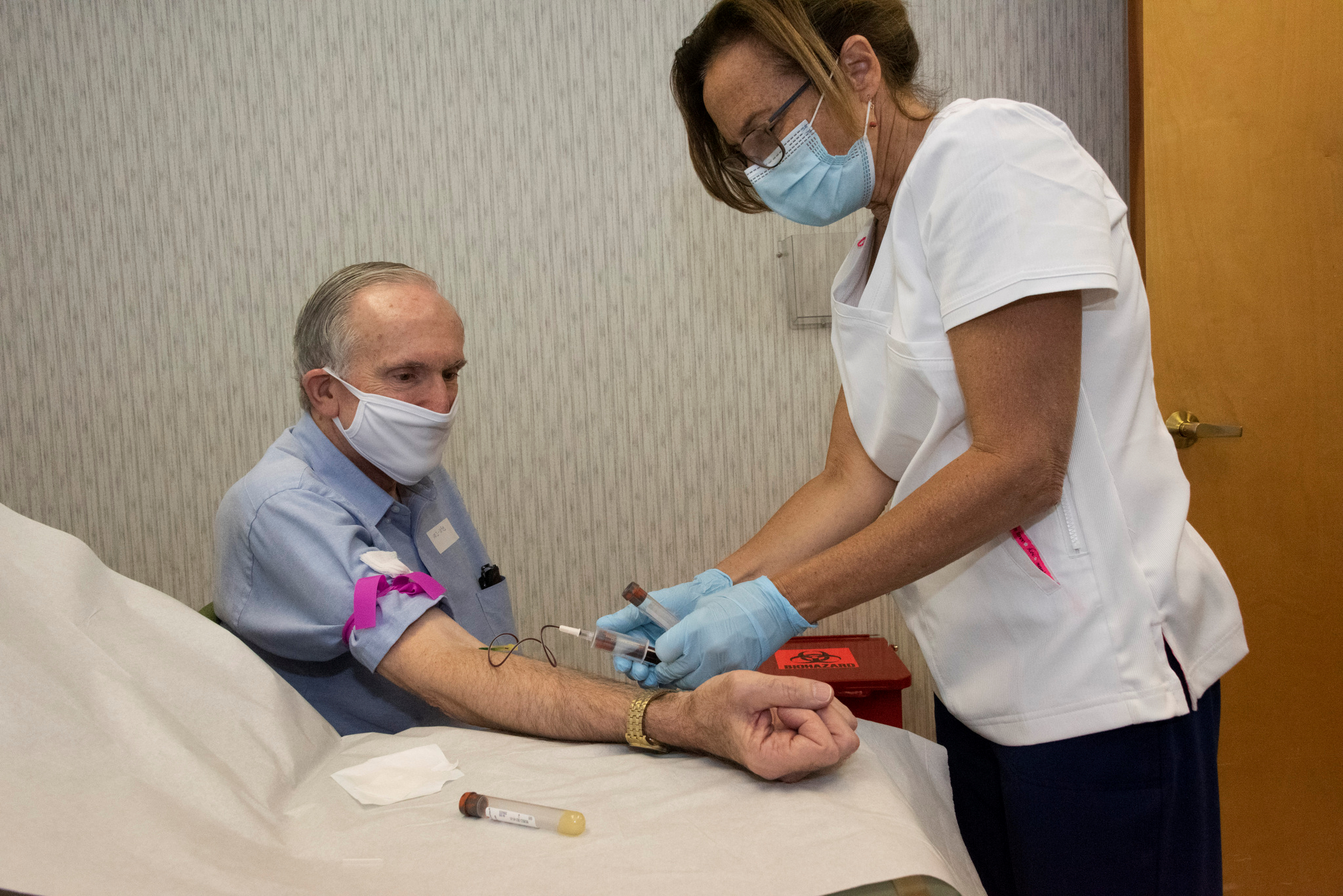 Raymond Grosswirth, a participant in a Phase 3 clinical trial for a COVID-19 vaccine.