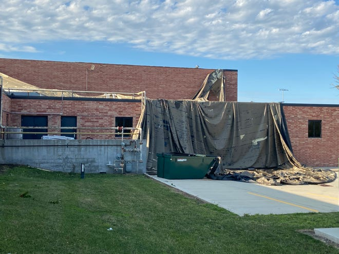 Madrid junior/senior high sustained roof damage during the Aug. 10, 2020 derecho storm.