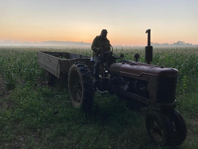 """""""You don't have time to worry. On a tractor, you're not daydreaming. You're thinking about what adjustments have to be made in every row. If things are running smooth, then there's time to think."""" -- Tom Sutton"""