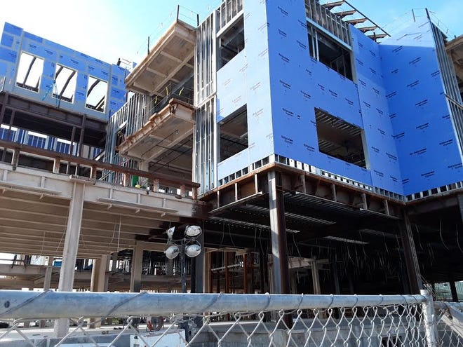 Construction continued Thursday on Thibodaux Regional Medical Center's $40 million cancer center.