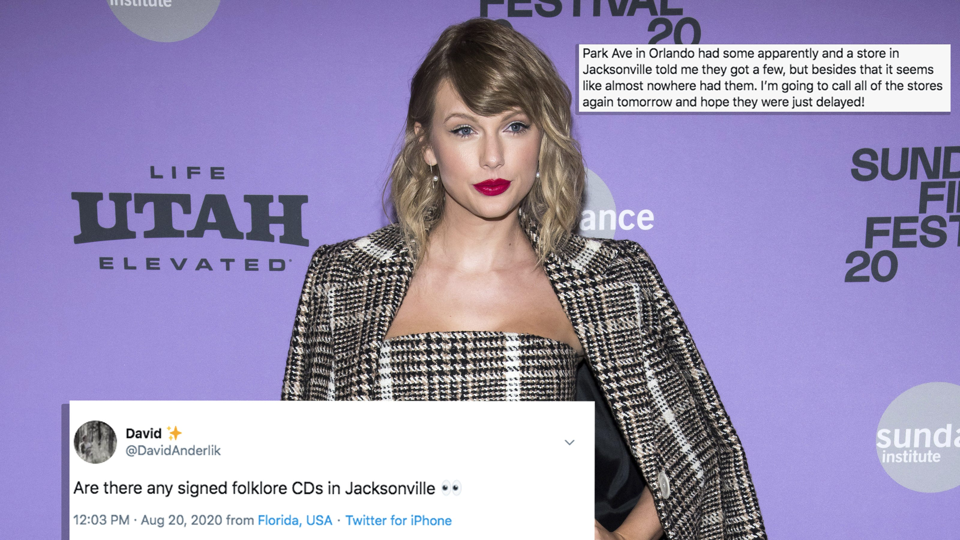 Jacksonville Swifties Flood Record Shops Lines Asking For Folklore