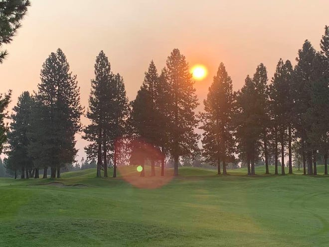 The air was filled with smoke at the Mount Shasta Resort golf course on the morning of Aug. 20, 2020.