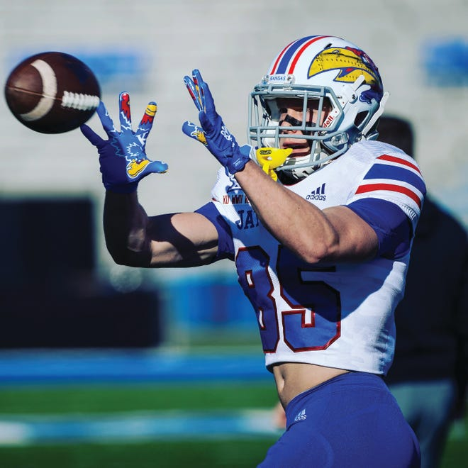 Hunter Kaufman, a PHS graduate, has spent the past four years climbing the depth charts at the University of Kansas football team. He hopes to earn a spot on the field this year as the Jayhawks and the Big 12 continue to move forward with plans to play games, despite other conferences canceling because of the coronavirus pandemic.