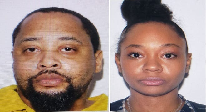 Julian Emmanuel Sharpe, left, and Elisa Scott were gunned down Thursday afternoon at Sharpe's home on Central Avenue in Hopewell. Police are asking anyone who may have a lead in the investigation to call them or Crime Solvers.
