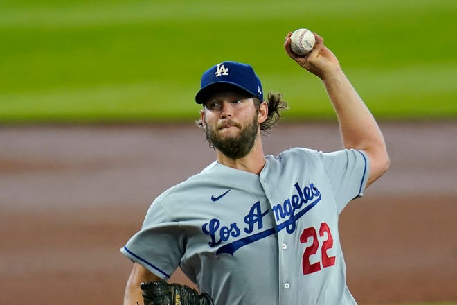 Los Angeles Dodgers pitcher Clayton Kershaw struck out 11 in seven innings in a 6-1 win over the Seattle Mariners on Thursday in Seattle. [AP Photo/Elaine Thompson]