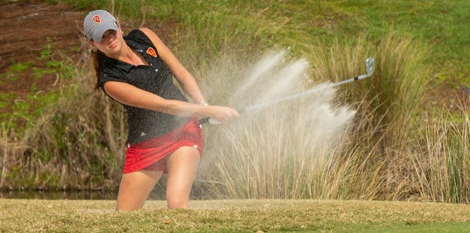 Flagler College golfer Bella Petrone tied her career-best round with a 72 in the first round of the Savannah Lakes Invitational.