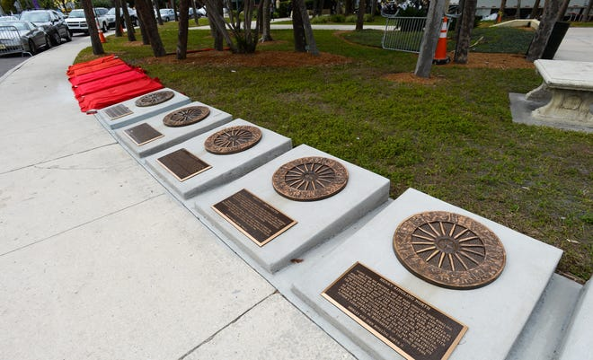 "The Circus Ring of Fame at St. Armands Circle in Sarasota, where the original ""Wallenda Troupe"" – led by great grandfather Karl Wallenda – was inducted in 1988."
