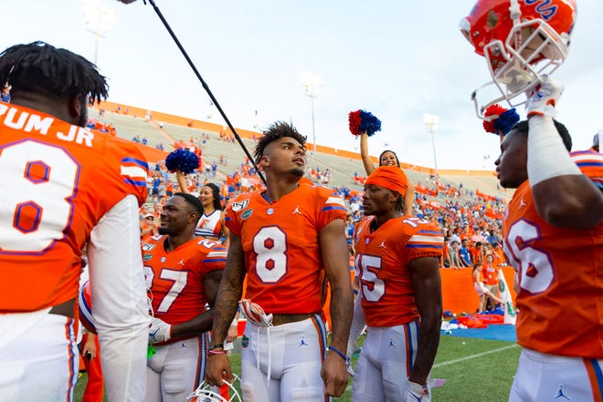 Florida wide receiver Trevon Grimes (8). [Matt Pendleton/Correspondent]