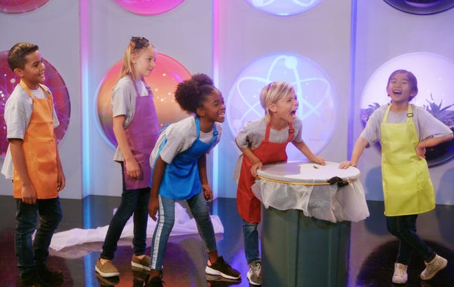 "Showing kids the differences between acids and bases using household items like baking soda, vinegar and food coloring, ""Emily's Wonder Lab"" streams on Netflix."