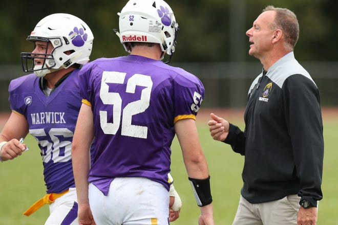 Warwick football coach Greg Sirico believes his program can improve off a 2-7 injury-plagued season last year. EDWARD DILLER/FOR THE TIMES HERALD-RECORD