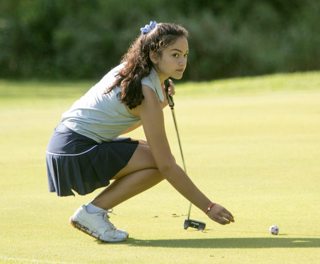 Violet Sinishtaj of Hartland tied for 11th with an 82 in the Sentech Services golf tournament.