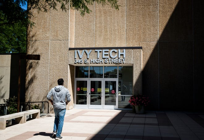 Ivy Tech's Fisher Building in downtown Muncie Friday, Aug. 21, 2020. Ivy Tech begins its Fall semester Monday, Aug. 24.