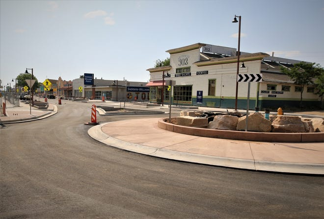 The addition of trees and other vegetation to phase one of the downtown Farmington Complete Streets project will not come before October, but benches and trash receptacles could be added in the days ahead.