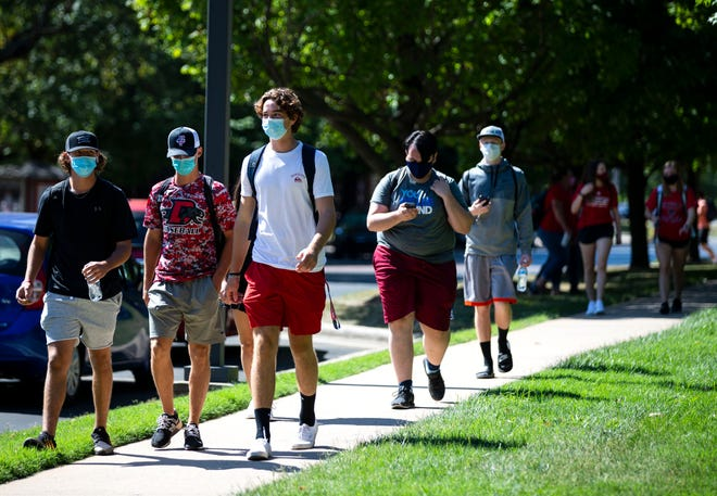In August 2020, Drury University students - along with others in Springfield - were required to wear masks indoors to try and limit the spread of COVID-19.