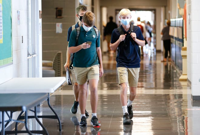 For the second year, Springfield Catholic High School is requiring masking because of the COVID-19 pandemic.