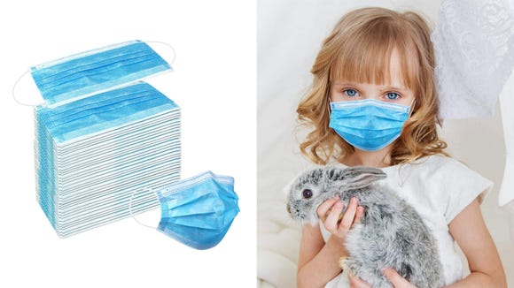 These disposable paper masks are popular and on sale.