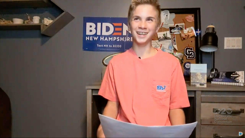Brayden Harrington Shares His Joe Biden Story With The Dnc