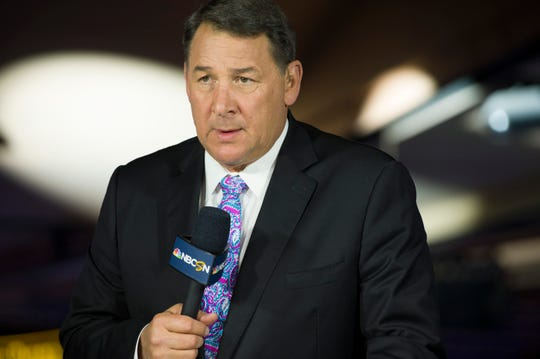 Mike Milbury, a former NHL player, coach and general manager, was a prominent figure in NBC's hockey coverage.