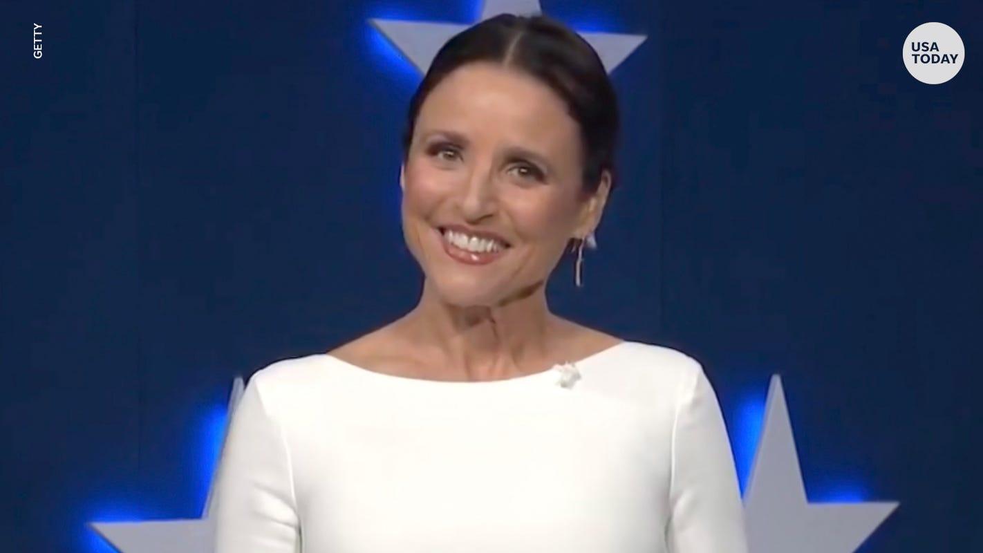 Julia Louis-Dreyfus spoofs Rudy Giuliani while announcing 'Veep' virtual table read
