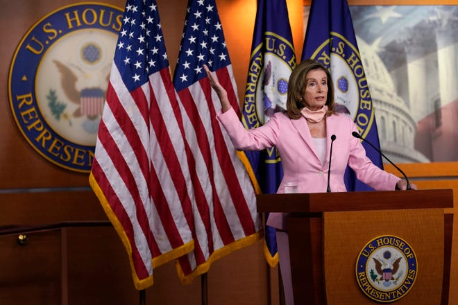 House Speaker Nancy Pelosi speaks during a news conference in Washington recently.