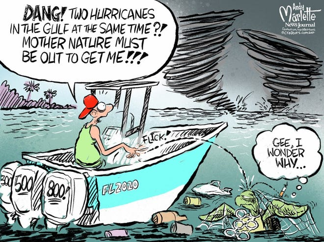 Andy Marlette USA TODAY Network  Thumbnail 2020 08 21 Two Hurricanes
