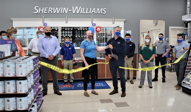 The Central Delaware Chamber of Commerce hosted a ribbon-cutting ceremony Aug. 19 for Sherwin-Williams, 300 Jimmy Drive, Smyrna, with chamber members, ambassadors and staff members celebrating the grand opening of the new location.