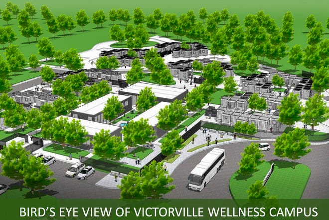 A rendering of Victorville's Wellness and Recuperative Care Center presented to the City Council on Tuesday, Aug. 18, 2020.