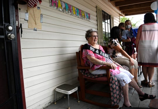 Marilyn Dow is holding a drive through party at her home for her 99th birthday, Saturday, August 22, 2020. Dow is the oldest living marine in Texas.