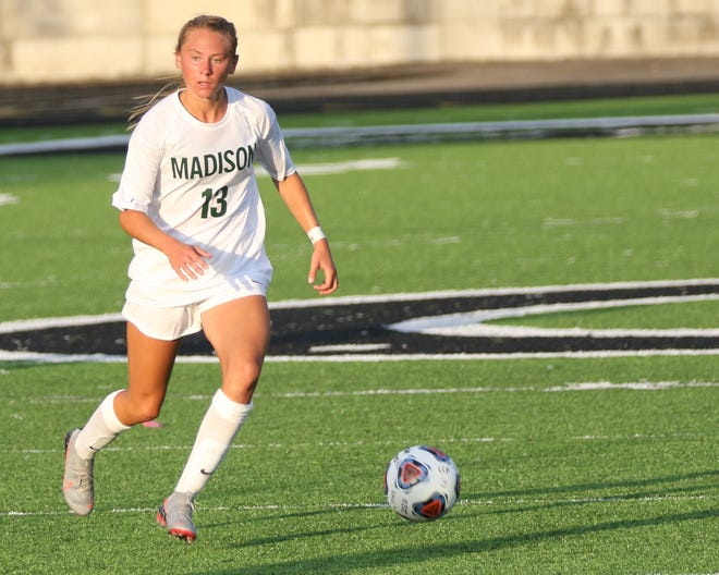 Madison's Taylor Huff scored her 100th-career goal in a 5-0 win over Clear Fork on Friday.