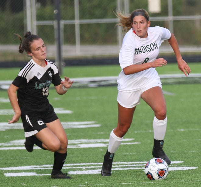 Madison's Chesney Davis scored a key goal in a 3-0 win over Ashland.