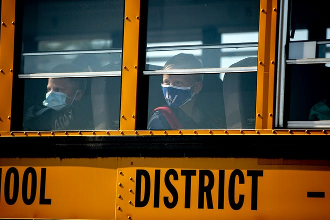 Under present Center for Disease Control rules, all students on school buses must wear face masks in an effort to cut down on transmission of the coronavirus.