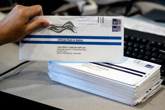"More than 100,000 mail-in ballots, such as this one in Chester County, could be at-risk of not being counted in Pennsylvania in November if a court ruling on so-called ""naked"" ballots, or those that do not arrive in a secrecy envelope, is not addressed by the state Legislature, a Philadelphia official has warned."
