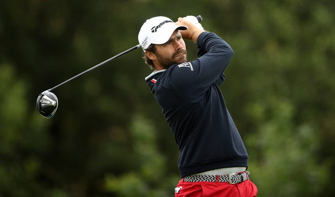 France's Romain Langasque watches his ball on the 11th hole during Day 4 of the Wales Open golf tournament at Celtic Manor Resort in Newport, Wales, on Sunday.
