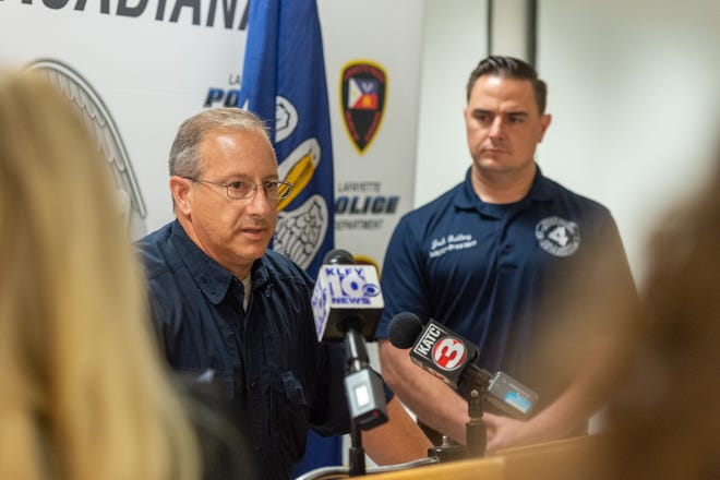 Interim Chief of Police Scott Morgan speaking at press conference. Saturday, Aug. 22, 2020.