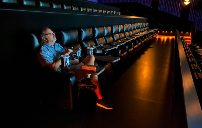 Columnist Joe Gerth was among four people watching an afternoon showing of the movie 'Unhinged' at Tinseltown Saturday, Aug. 22, 2020.