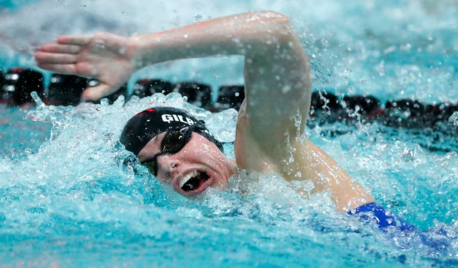 Kennedy Gilbertson was an accomplished high school swimmer at SPASH and is a sophomore on the University of Iowa women's swim team. The school announced Friday it is discontinuing the sport along with three others due to funding issues related to the COVID-19 pandemic.