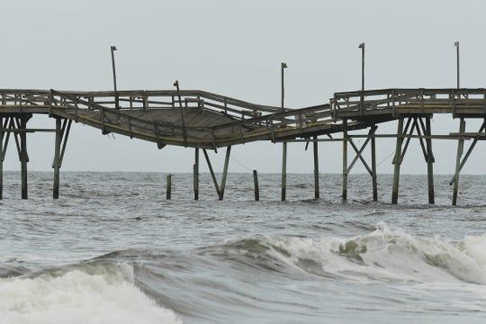 Ocean Isle Beach, North Carolina, after Hurricane Isaias on Aug. 6, 2020.