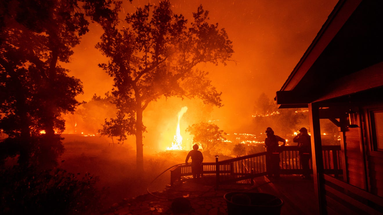 Historic fires in Waashington and California