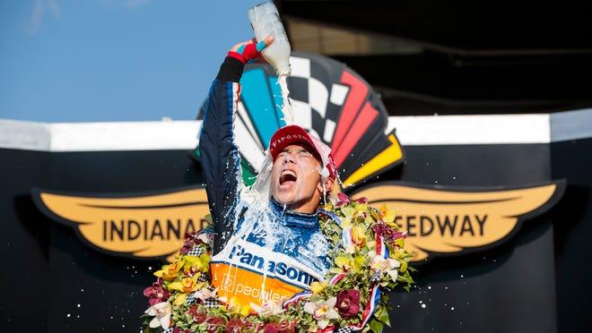 Takuma Sato wins race for second time
