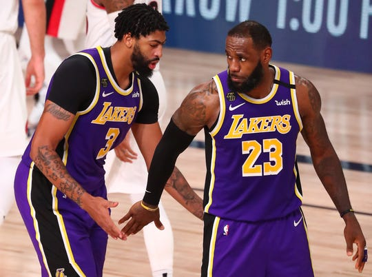 LeBron James (23) and Anthony Davis (3) combined for 67 points, 23 rebounds and 16 assists.