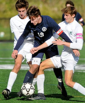 Holy Ghost Prep's soccer team kicked off official practices for the upcoming fall season on Monday, making it the first school in Bucks County to do. The COVID-19 pandemic has delayed the start of fall sports for many schools and leagues.