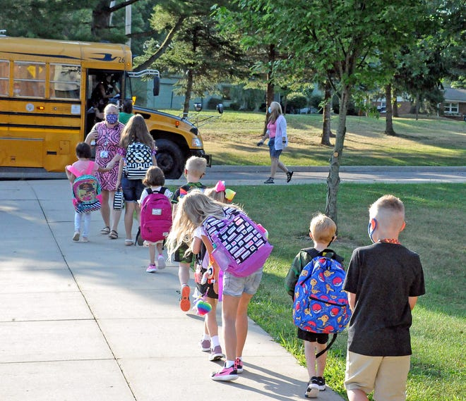 Students board a bus at Melrose Elementary to go to a church alternative site for the day. In Ashland, Holmes and Wayne counties,14of the 21school districts have openpositionsfor bus drivers,substitutedrivers and van driverslistedon their district websites.