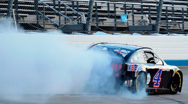 Kevin Harvick has been fast this season, but has yet to shake Denny Hamlin off his rear bumper.